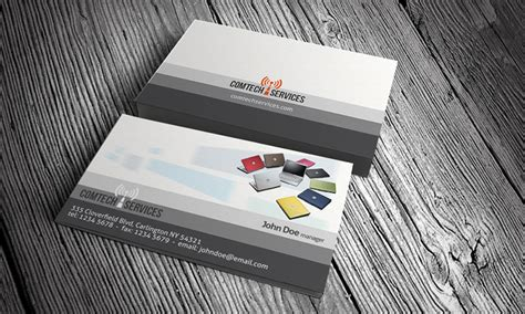 Computer Business Card Template » Free Download » Ct00001