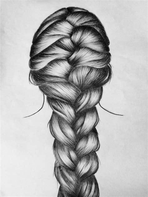 french braid  drawing hair styles