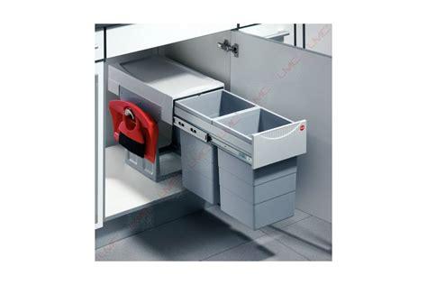 poubelle de cuisine tri selectif poubelle coulissante tri selectif 2 bacs 30l accessoires