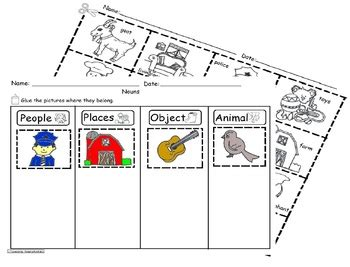 Nouns Sorting Worksheet Sla Common Corecscope1 By Pacheco's Bilingual Patch