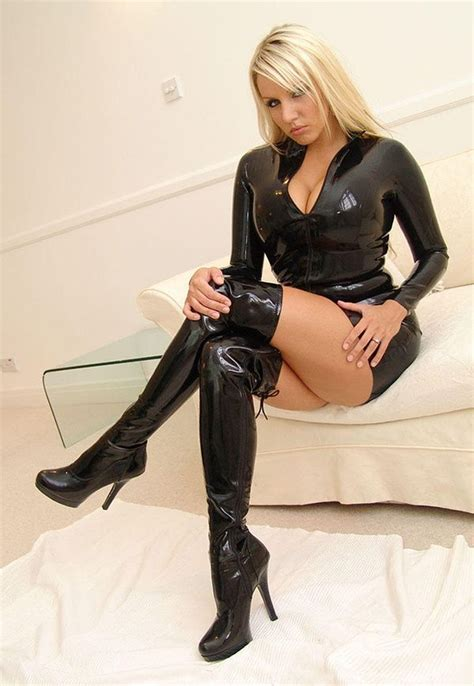 Thigh High Boots And Shiny Leather Loveslikes