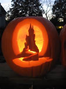 Disney Castle Pumpkin Carving Stencils