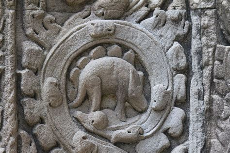 filedinosaur carving  ta prohm temple siem reap
