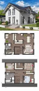 Modernes Haus Grundriss : modernes haus grundriss mit satteldach architektur zwerchgiebel einfamilienhaus bauen ideen ~ Orissabook.com Haus und Dekorationen