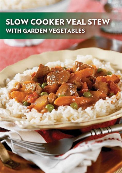 slow cooker veal stew with garden vegetables recipe