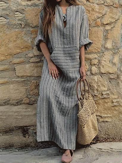 Summer Neck Sleeve Half Cotton Dresses Casual