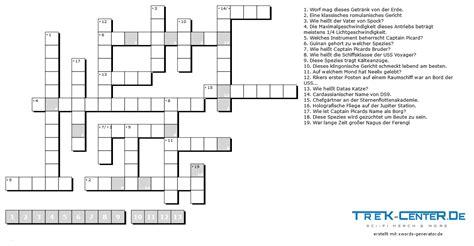 Manche kreuzworträtsel lassen sich ausdrucken und online spielen. Star Trek Kreuzworträtsel für Fortgeschrittene   by Trek-Center.de