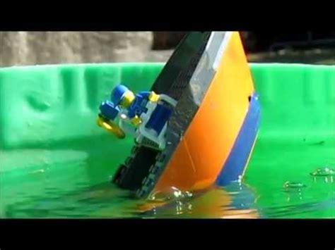 lego ship sinking in whirlpool lego cargo ship sinking 3 the
