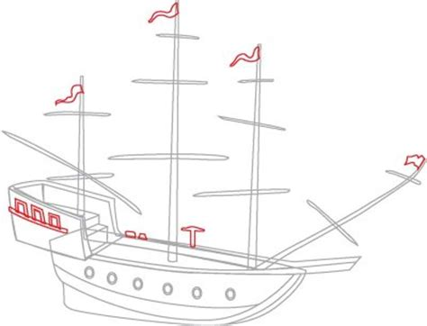 How To Draw A Tudor Boat by How To Draw Pirate Ships How To Draw Pirate Ships