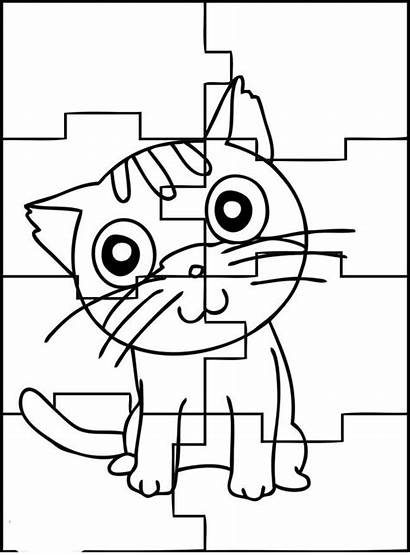 Puzzle Coloring Pages Puzzles Printable Jigsaw Play