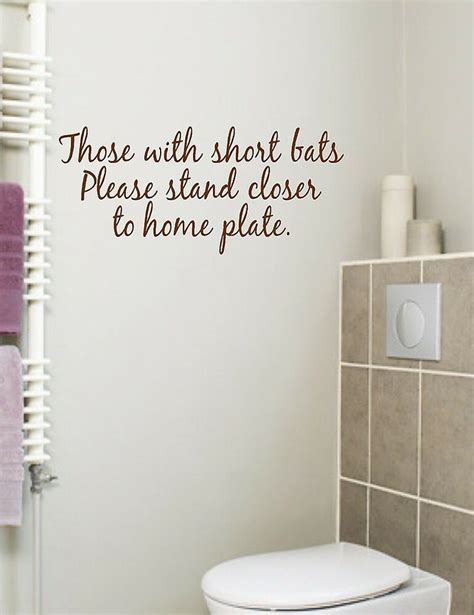 Cheap Bathroom Quotes by Bathroom Quote Those With Bats Vinyl Wall Decal Ebay