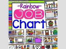 Bright, Rainbow EDITABLE Classroom Jobs by Pocket of