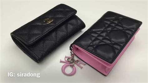 comparison review chanel dior card case youtube