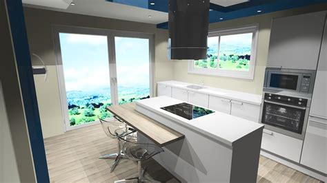 table cuisine contemporaine design cuisine blanche