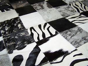 peau de chevre poney sanglier renard vache dt collection With tapis peau de vache noir et blanc