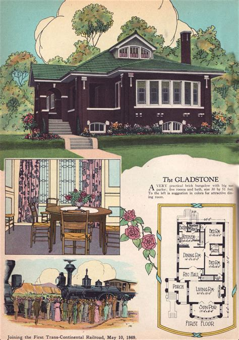 chicago style brick bungalow american residential architecture  house plans