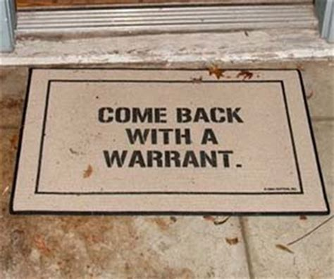 Warrant Doormat by Come Back With A Warrant Doormat