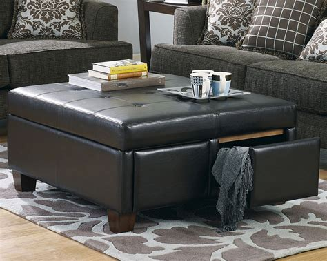 decor sectional sofa and tufted leather ottoman coffee