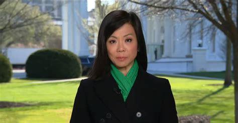 jiang weijia trump cbs flu correspondent kung coronavirus chinese asian journalist official american face president accusing worst murder host done