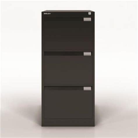 bisley 3 drawer filing cabinet black bisley bs3e w470 x d622 x h1016mm flush front 3 drawer