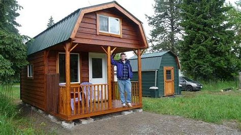 Small Barns To Live In by The Cabin Is 10ft Wide And 20ft Has A 6ft Porch A
