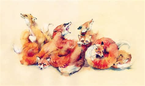 unsettling watercolor illustrations  dima rebus colossal