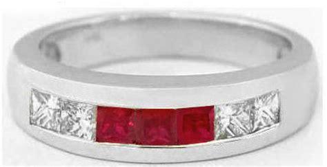 s princess cut ruby and princess cut wedding band in 14k mr 5014