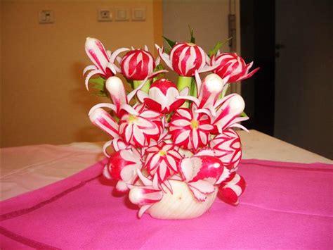 decoration de legume et fruit sculpture sur fruit