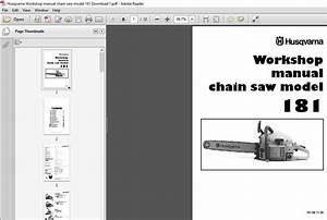 Husqvarna Workshop Manual Chain Saw Model 181