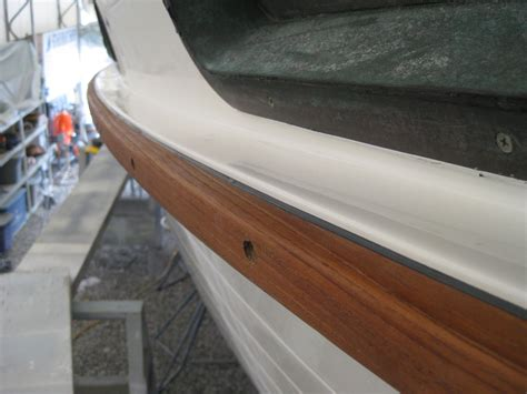 Boat Rub Rail Repair by Rub Rail Rally Part One Motorsailer Sojourn S Blog