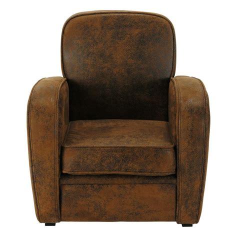 grand canapé en u fauteuil enfant en microfibre marron arizona maisons du