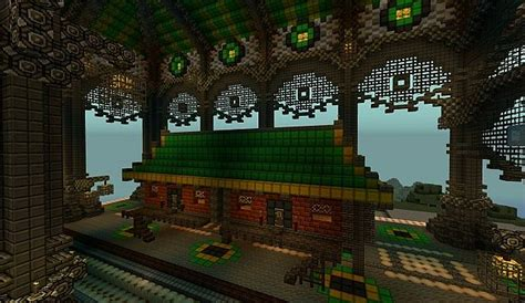 ba sing se monorail station avatar cartoon minecraft