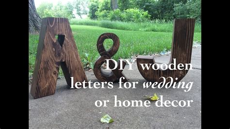 diy wood letters  wedding  home decor youtube