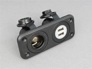 12v    24v Twin Usb Power Socket And Cigar Lighter