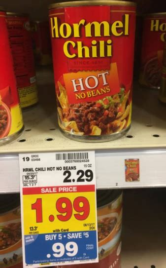 Hormel Chili without Beans