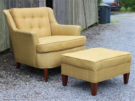 Pair Modern Regency Armchairs With Ottoman At 1stdibs