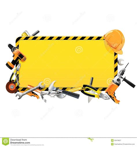 construction tools clipart vector construction frame with tools royalty free stock