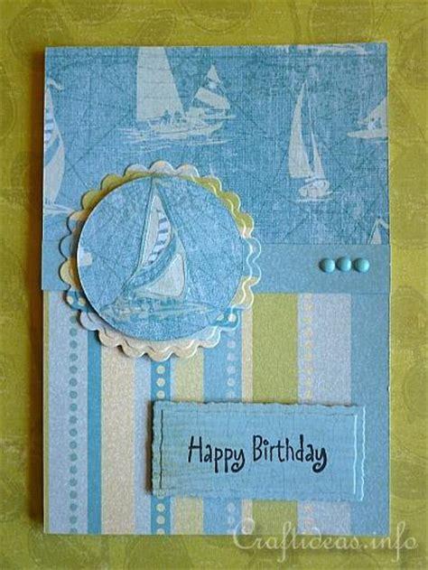 paper  card crafts maritime birthday card  men