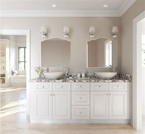 Bathroom Colors With White Cabinets by Lakewood White Ready To Assemble Bathroom Vanities