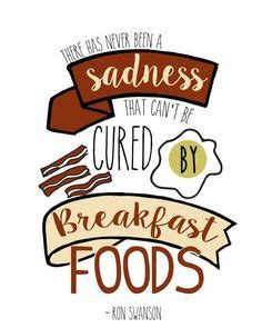 Parks and Recreation Ron Swanson Breakfast