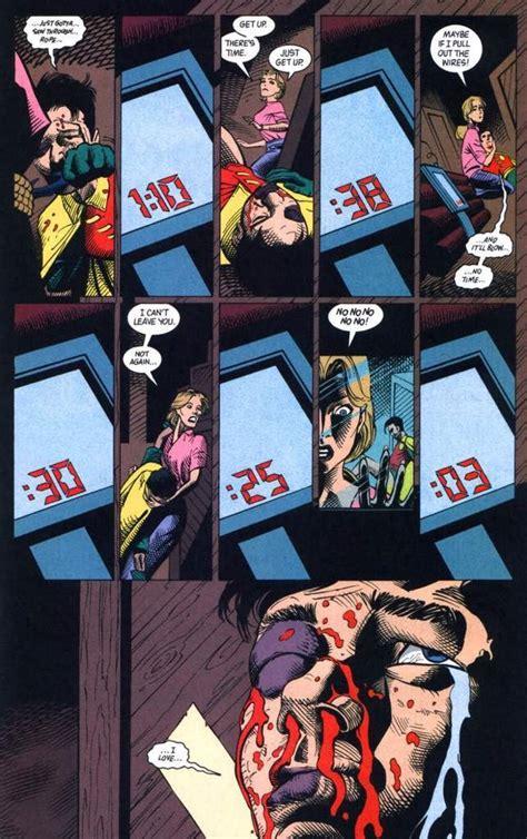 jason todd batman bomb betrayal resurrected parental hood died mother bio die comics tropes tv he door arrives sadly late