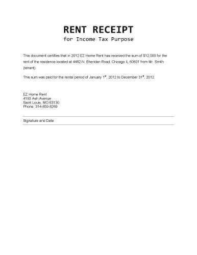 rent receipt for income tax purpose client support receipt template free receipt template