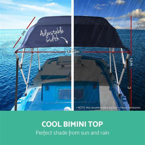 Boat Canopy Straps by Seamanship 4 Bow 1 8m 2m Boat Bimini Top Canopy Aluminium