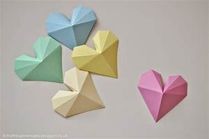 How, To, Make, 3d, Geometric, Paper, Hearts