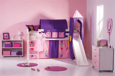 Girls Trendy Cabin Bed With Slide And Tent A Fun