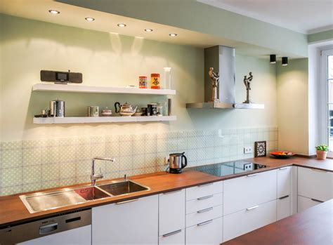 Küche Mattlack Weiss  Arbeitsplatte Neolith