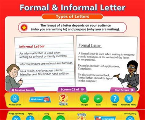 formal  informal letter writing format cbse format