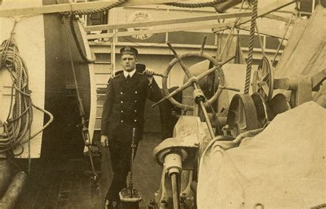 Francis James RAMSDEN on boat another photo - Kete Horowhenua