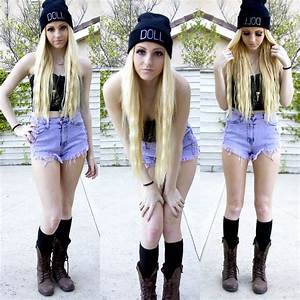 Kirsten Vogel - 10th Tribe Doll Beanie, Forever 21 Bustier ...
