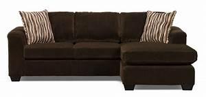 Sofa Sectionnel Nina 2 Pices En Microsude Avec Pouf